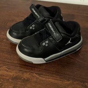 Toddler Black Jordans - Size 8